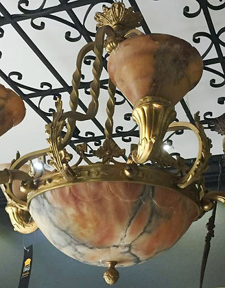 Lustre Alabastro Bronze Dourado