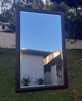 Espelho Grande Moldura Madeira 1,5m x 0,94m