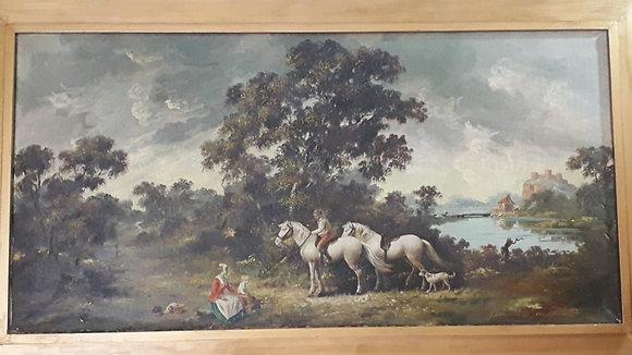 Quadro Paisagem com Cavalos