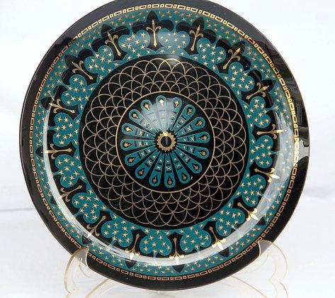 Prato Decorativo Azul Metal Marroquino