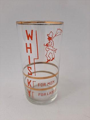Jogo Copo Whisky Alto Marcação de Dose Anos 60 - com 11 uni.