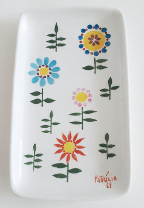 Petisqueira Porcelana Flor