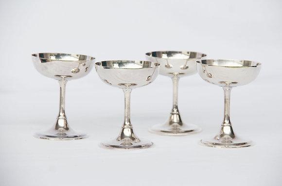 Taças Sorvete Prata - 6 unidades
