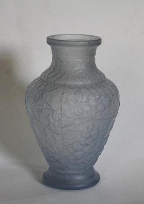 Vaso Lalique Azul Jateado