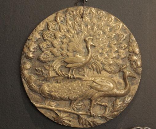 Prato Decorativo de Ferro com Pavão
