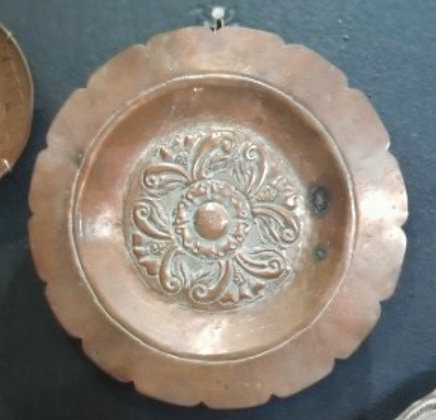 Prato Decorativo de Cobre