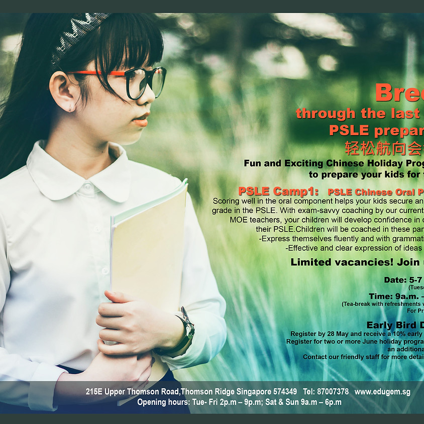 PSLE Chinese Oral Prep Camp