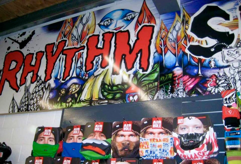 One of my very favourite clients.... 60m of my artwork now lines the walls of the largest Snowboard Shop in the country!