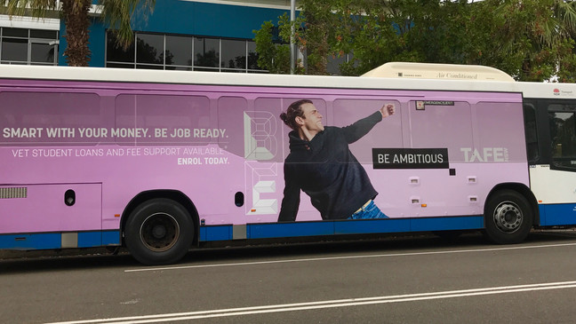 TAFE NSW 'Be Ambitious' campaign at Banjo