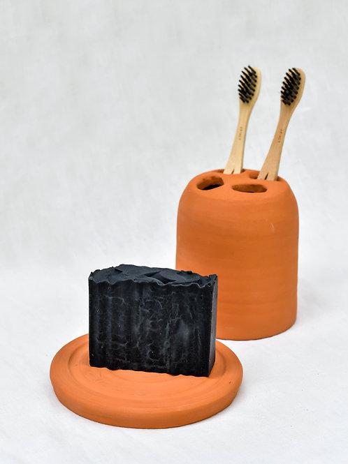 Kit Banheiro I - Saboneteira e Porta Escova de Dente
