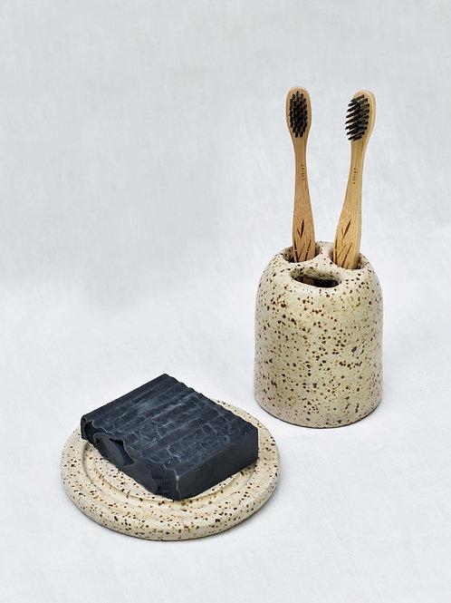Kit Banheiro II - Saboneteira e Porta Escova de Dente