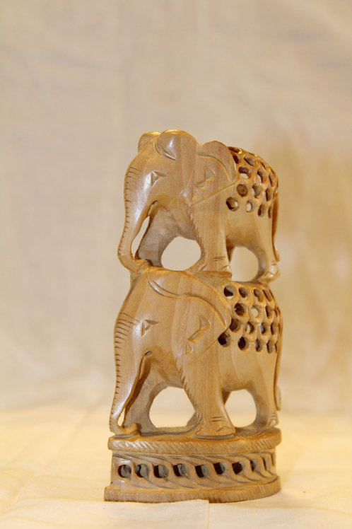 Wooden Elephant - Double Carved