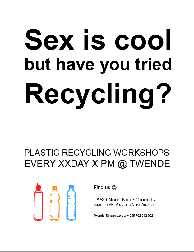 recycling workshop advertising 4