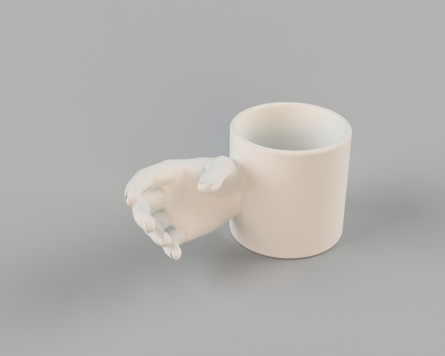 a mug that invites you to hold it the way it can reciprocate