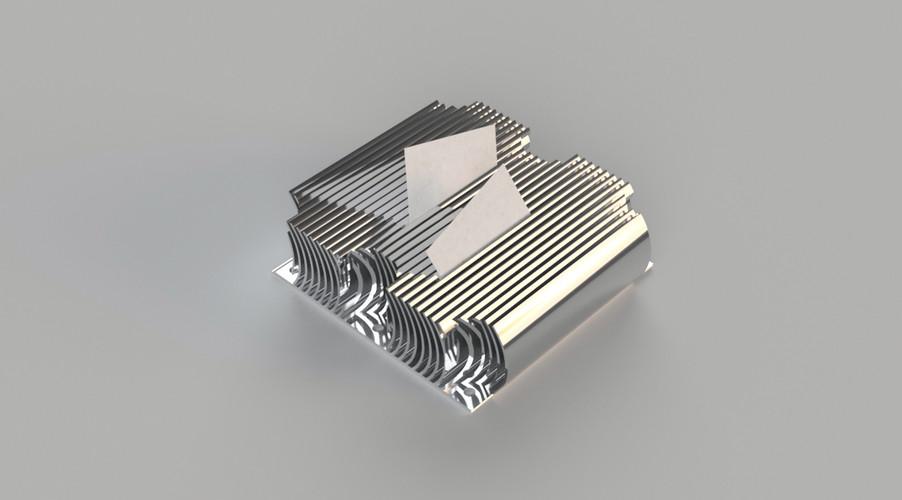 heatsink-inspired card holder