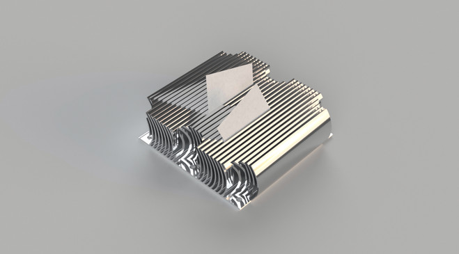 heatsink-inspired card holder
