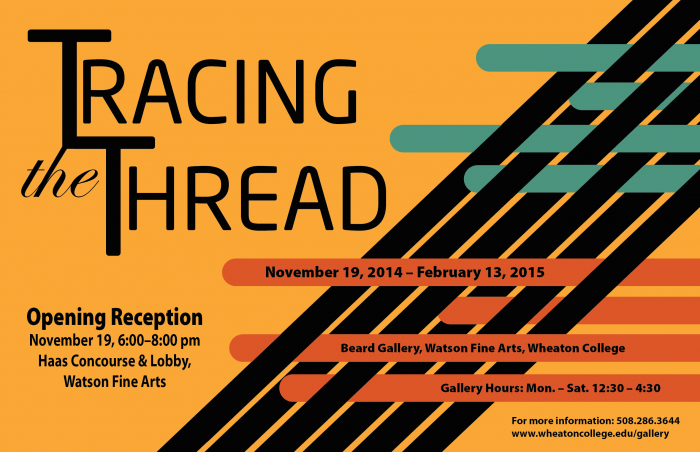 a poster for a student-curated exhibition at Wheaton College