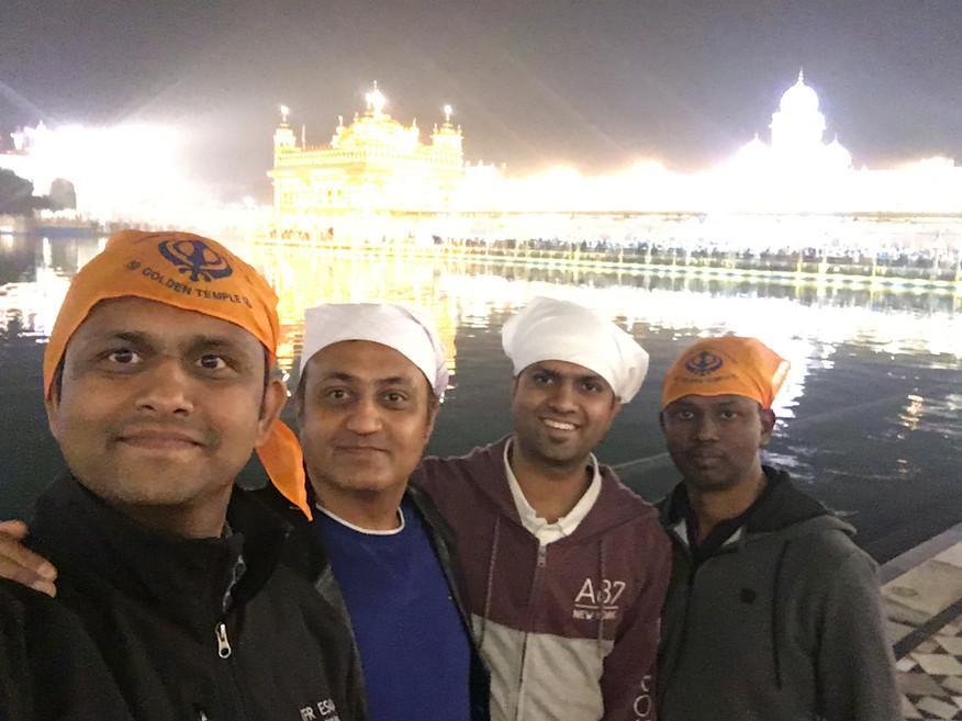Bert Team at Golden Temple, Amritsar.