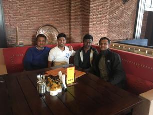 Bert Team at Hotel Haveli, on the Kapurthala-Jalandar Highway, returning back from work visit at a leading foods company.