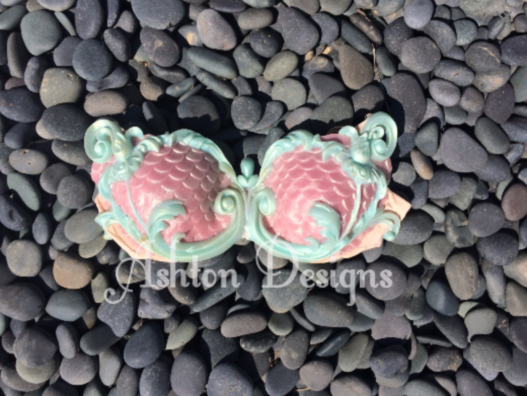 Mermaid top: Pink and Teal