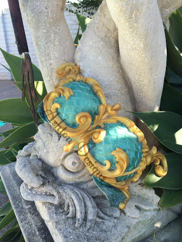 Mermaid top: Teal and Gold