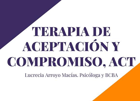 Webinar sobre Terapia de Aceptación y Compromiso
