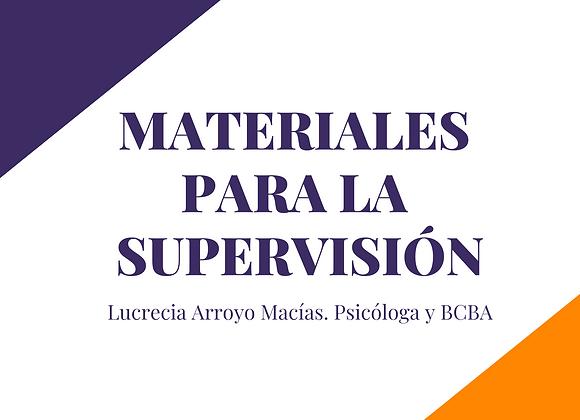 Materiales para la SUPERVISIÓN