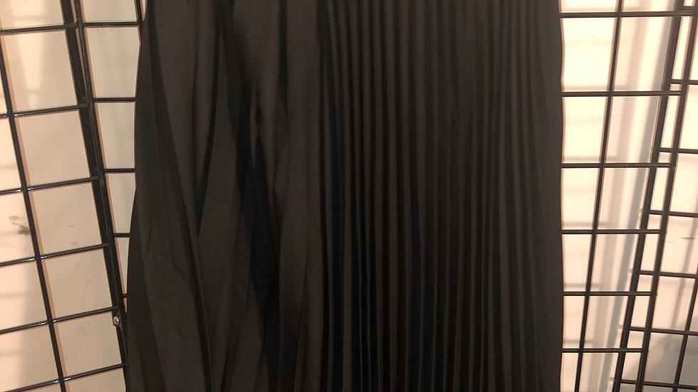 Black Asymmetrical Pleated Skirt