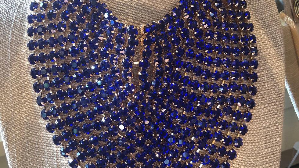 Blue Rhinestone Set