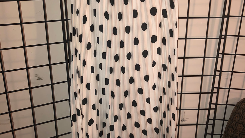 Black White Polka Dot Skirt