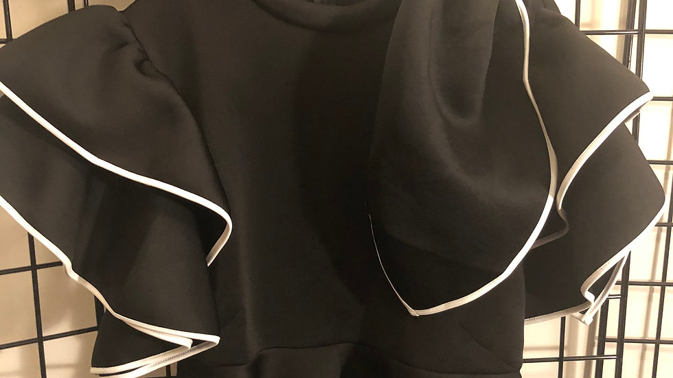 Black Scuba Blouse