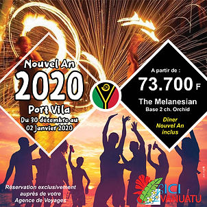 Port Vila Nouvel An du 30 dec 19 au 02 j
