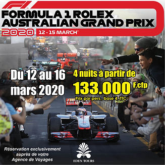 F1 GP Australia du 12 au 16 mars 2020