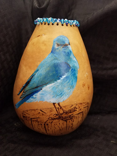 Mountain Bluebird w/beads
