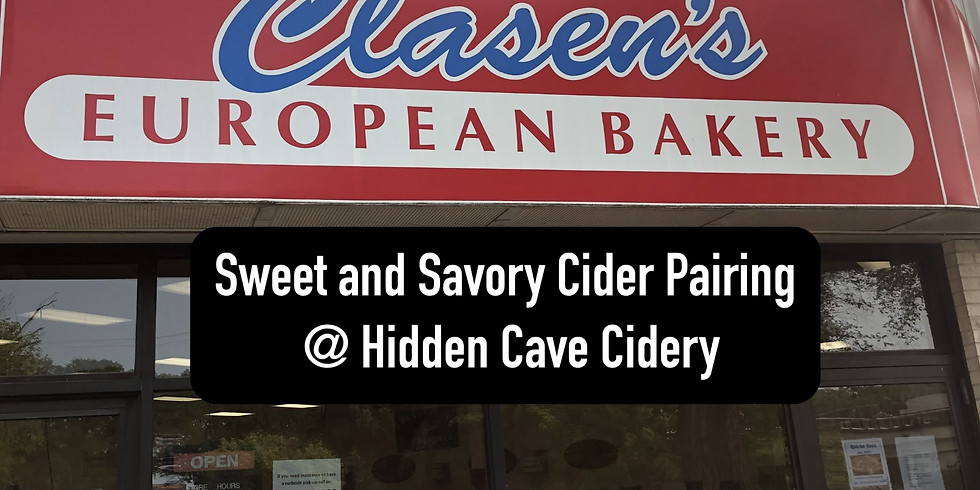 SOLD OUT: Sweet and Savory Cider Pairing