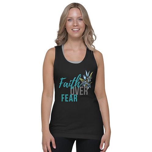 Faith Over Fear Floral - Classic tank top (unisex)