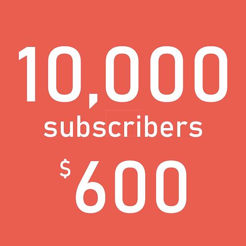 10,000 YouTube Subscribers