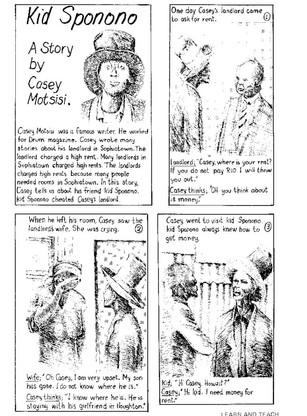 Kid Sponono: a story by Casey Motsisi