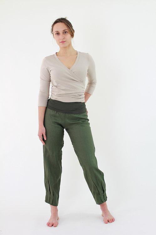 Namaqua: Long ankle pleated linen pants