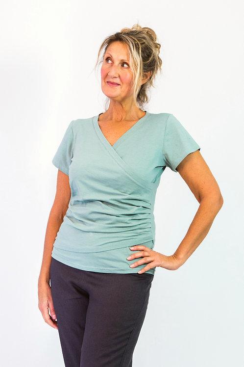 Lamela: Short sleeve cross over t-shirt