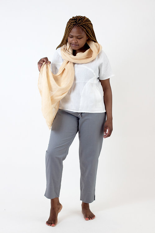 Linen Gauze Naturally Dyed Scarf