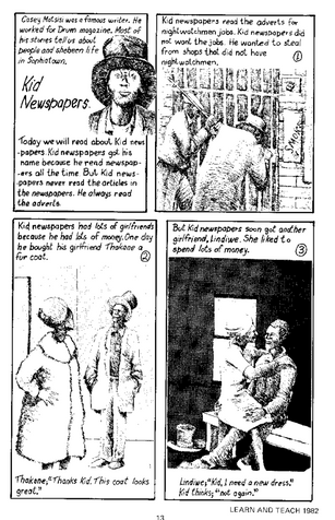 Kid newspapers: A story by Casey Motsisi