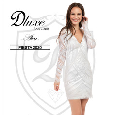 Vestido corto de fiesta nueva colección Dluxe boutique Altea