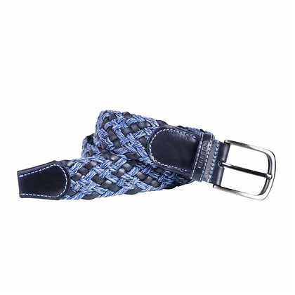 Cinturón trenzado de cuero ecológico y algodón - POSSUM