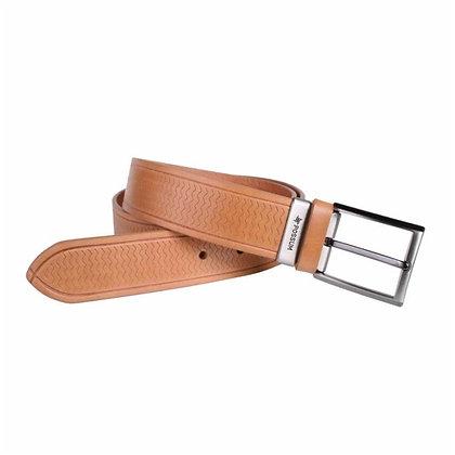 Cinturón de vaqueta grabado  - POSSUM