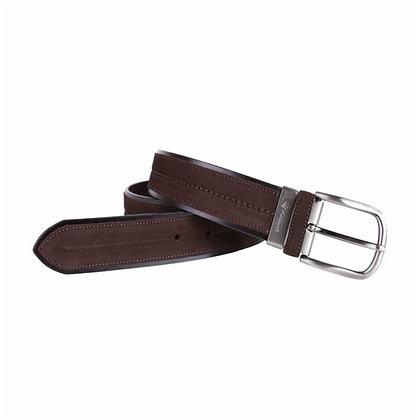 Cinturón de piel y serraje grabado  - POSSUM