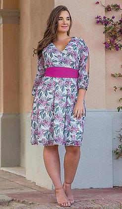 Vestido corto talla grande