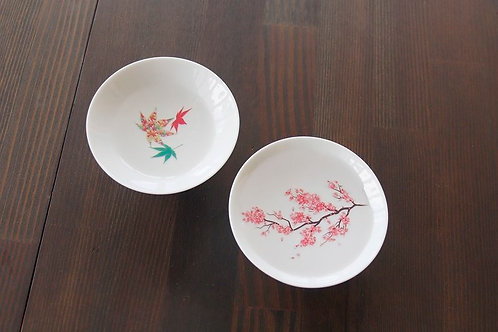 Hirahai Sakura with Momiji - White (Set of 2 Pcs)