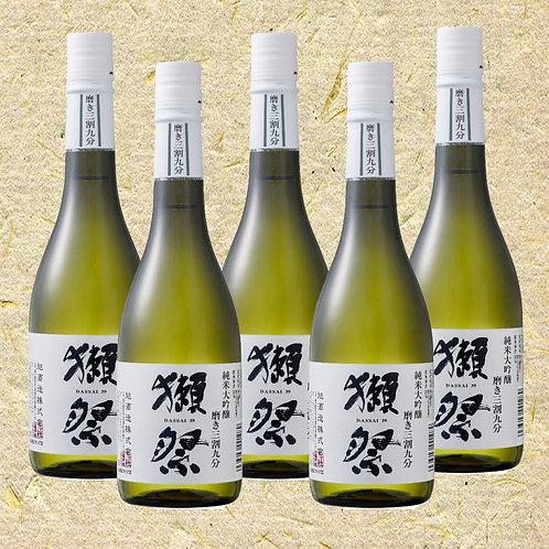 Dassai 39 720ml (Bundle Set of 5 Bottles)