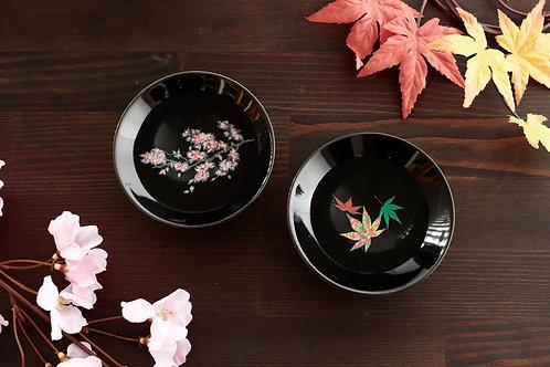 Hirahai Sakura with Momiji - Black (Set of 2 Pcs)